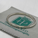 """Substantial Plain Squared Edge Silver Round Bangle - 5mm x 2.75"""" diameter  -  HP Artisan Crafted Sterling Silver Bracelet"""