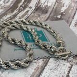 """HP Artisan Crafted Sterling Silver Classic Rope Necklace - 22"""" X 10mm"""