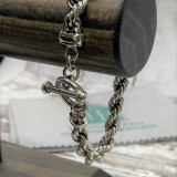 """Classic 8mm Rope HP Artisan Crafted Sterling Silver Bracelet - 8.5"""""""
