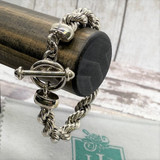 """Classic 10mm Rope HP Artisan Crafted Sterling Silver Bracelet - 8.5"""""""