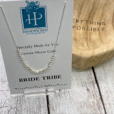 """Bridetribe"" Custom Sterling Silver Morse Code Necklace - HP Exclusive Design"