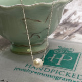 """Single 6-7mm Freshwater Pearl on Sterling Chain - 16"""""""