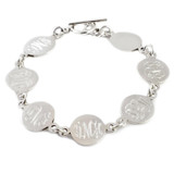 Monogram Bracelet - HandPicked Exclusive Sterling Family Link Bracelet  - Specially Customized