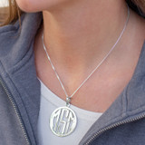 """HP Exclusive Sterling 1.5"""" Cutout Round Pendant 