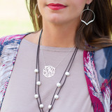 Silver Script Initial Necklace│HandPicked