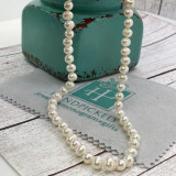 7-8MM Cultured White Pearl Strand Necklace