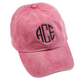 Personalized Red Pigment-Dyed Baseball Cap │HandPicked