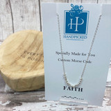 """""""Faith"""" Hidden Message Custom Morse Code Necklaces - HPExclusive Sterling Collection"""