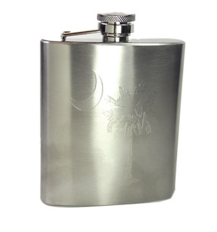 Monogram Brushed Flask - Take Your Party Favor on the Go!