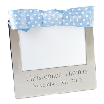 "Top Baby Gift - Monogram Frame - 4""x6"" Custom with Ribbon"
