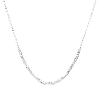 I LOVE YOU Morse Code Necklace  Sterling Silver