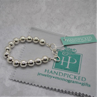 Classic Sterling Artisan Crafted 12MM Bold Bead Bracelet