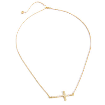 Personalized Gold Cross Charm Necklace│HandPicked