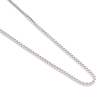 "Sterling Silver Plain Box Chain 18"" Length"