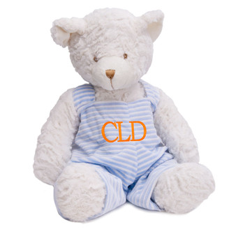 Monogram Baby Gift - Blue Plush Teddy Bear