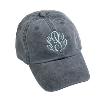 Personalized Navy Pigment-Dyed Baseball Cap │HandPicked