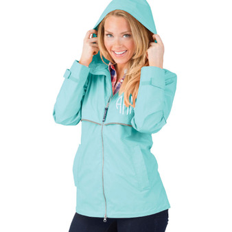 Personalized Aqua Adult Rain Jacket│HandPicked