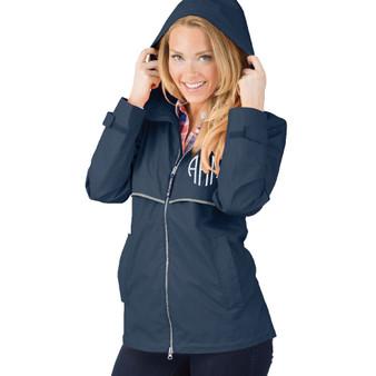 Personalized Navy Adult Rain Jacket│HandPicked
