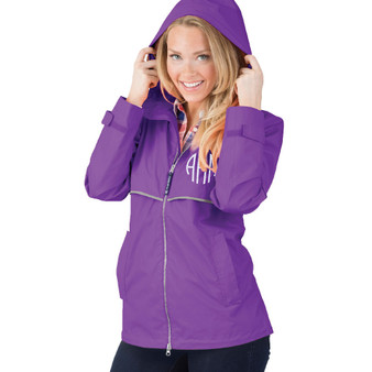 Personalized Violet Adult Rain Jacket│HandPicked