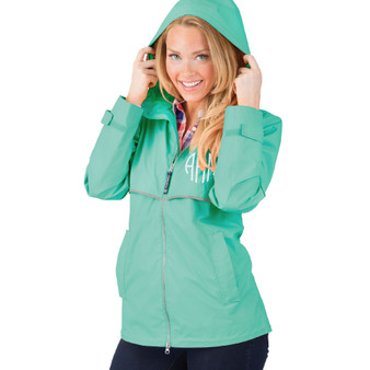 Personalized Mint Adult Rain Jacket│HandPicked│Charles River Apparel