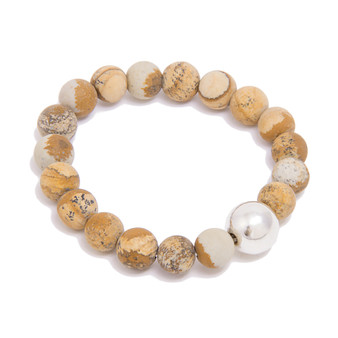 Twice as Nice Sterling Picture Jasper Stone Bracelet │HandPicked