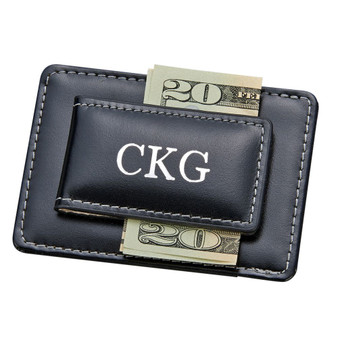 Personalized Leather Card Holder/Money Clip│HandPicked