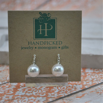 Dangling Pearl Post Earrings