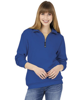 Charles River Quarter Zip Crosswind Pullover - Royal Blue