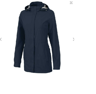 Charles River Monogram Logan Rain Jacket - Navy
