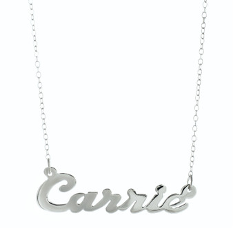 Personalized Cutout Nameplate Necklace | HandPicked