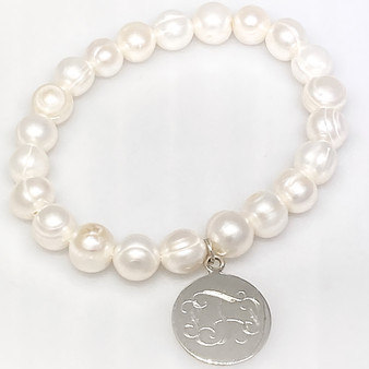 Online Exclusive Monogram Cultured Pearl Stretch Bracelet