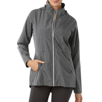 New Arrival! Charles River Monogram Packable Lightweight Jacket Gray