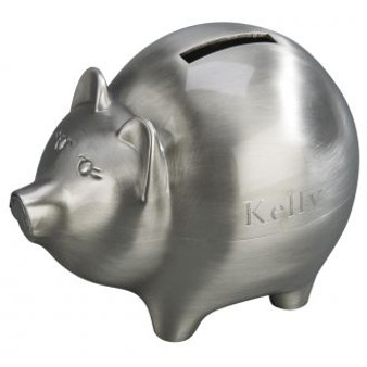 New Large Matte Finish Monogram Piggy Bank - Baby Gifts