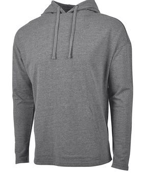 Harbor Hoodie Monogram Terry Knit Athleisure - Gray Heather Charles River