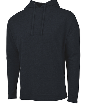 Harbor Hoodie Monogram Terry Knit Athleisure - Black Charles River