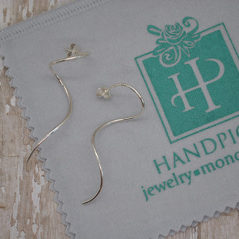 Ribbon Sterling Silver Earrings - HP Exclusive