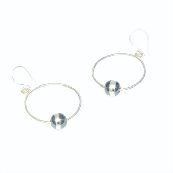 Silver Bead Bottom Forward Facing Hoop