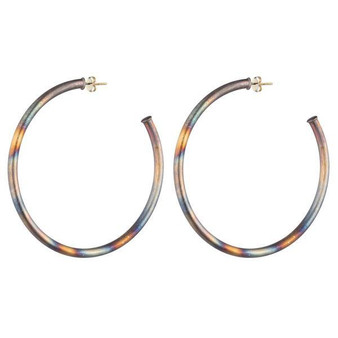"Sheila Fajl 2"" Burnished Antique Smaller Everybody's Favorite Hoops"