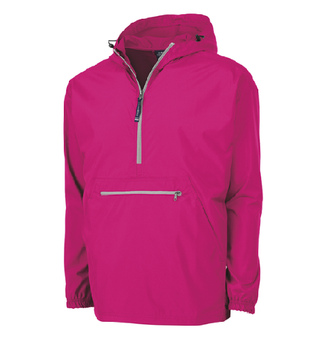 Charles River Monogram Pack-N-Go Pullover - Hot Pink