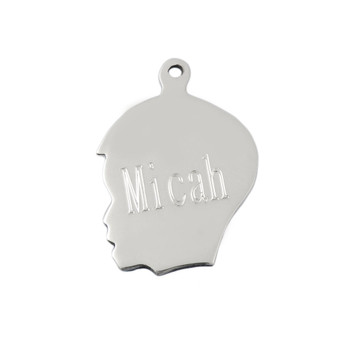 HPExclusive Monogram Boy Head Charm- Sterling Silver Pendant