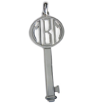 "Monogram 2.5"" Key Pendant - Custom HP Sterling Silver"