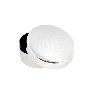 Monogram Small Round Trinket & Keepsake Box