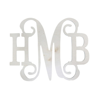 Classic Vine Wooden Monogram Door or Wall Decor