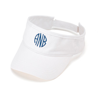 Personalized White Visor │HandPicked