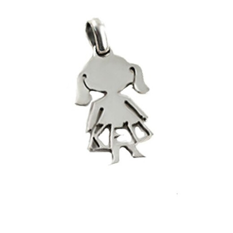 Artisan crafted HandPicked Exclusive Sterling Silver Cutout Girl Pendant