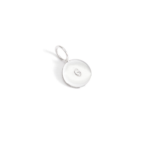 10mm Silver Single Initial Charm│HandPicked