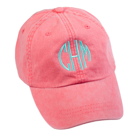 Personalized Coral Pigment-Dyed Baseball Cap │HandPicked
