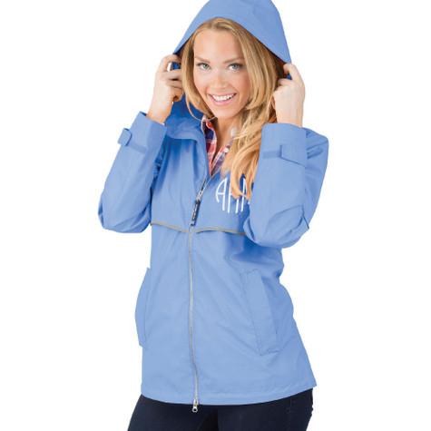 Personalized Periwinkle Adult Rain Jacket │HandPicked