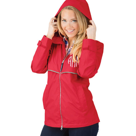 Personalized Red Adult Rain Jacket│HandPicked