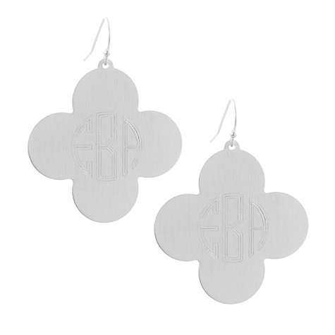 "Personalized Silver 1.5"" Clover Earrings │HandPicked"